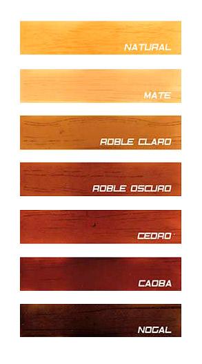Barniz - Carta de colores